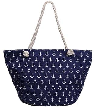 b66fa1568ae3a Beach Bag Anker Damentasche Schwimmbad- Sauna- Strandtasche maritim in blau