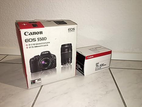Canon EOS 550D - Cámara réflex Digital de 18 MP (Pantalla táctil ...
