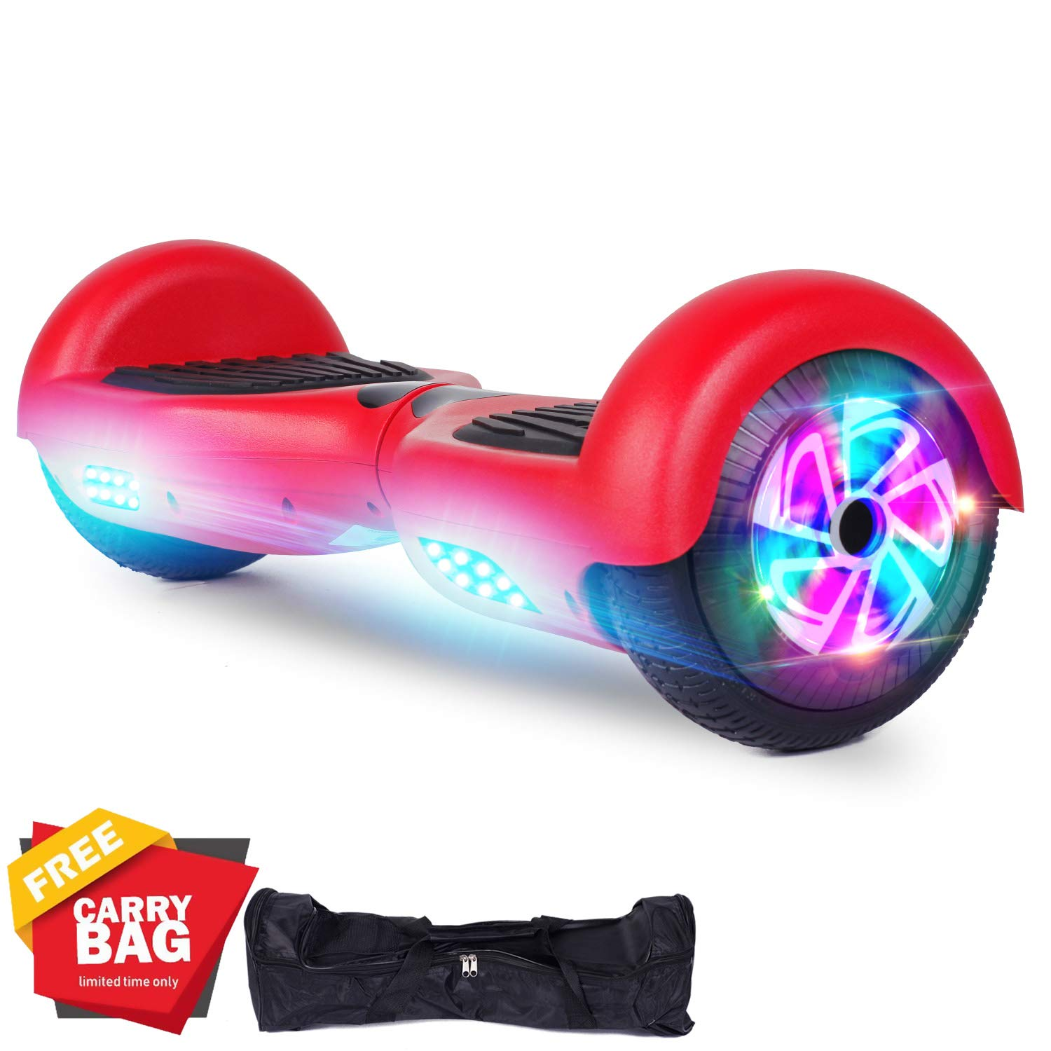 FLYING-ANT Hoverboards UL Certified 6.5 Smart Scooter Two-Wheel self Balancing Electric Scooter Light Free Bag and Charger Included by FLYING-ANT