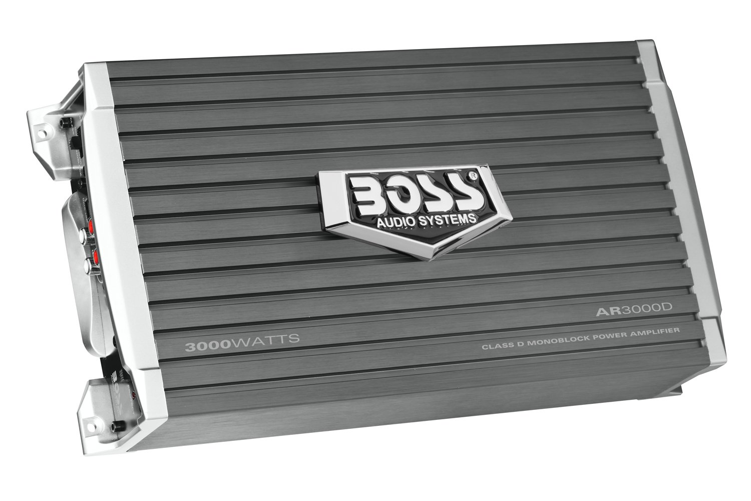 BOSS AUDIO AR3000D Car Amplifier - 3000 Watts, 1/2/4 Ohm Stable, Class D, Monoblock, Remote Subwoofer Control