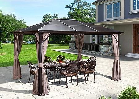 Amazon Com Erommy 10x12ft Outdoor Hardtop Gazebo Canopy Aluminum