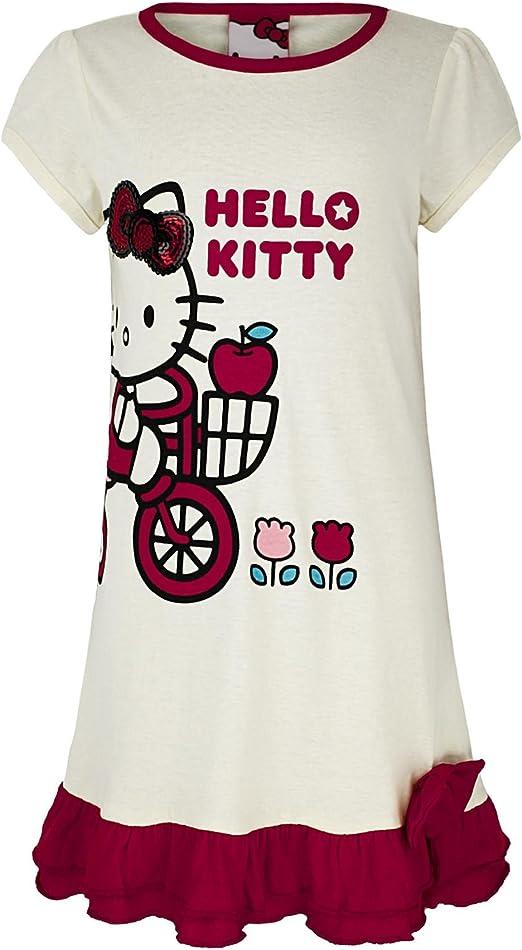 Niña Hello Kitty Algodón Pijama Vestido Conjunto De Camiseta Y ...