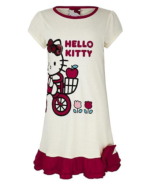 Niña Hello Kitty Algodón Pijama Vestido Conjunto De Camiseta Y Pantalón Corto Infantil Pijamas, Prenda