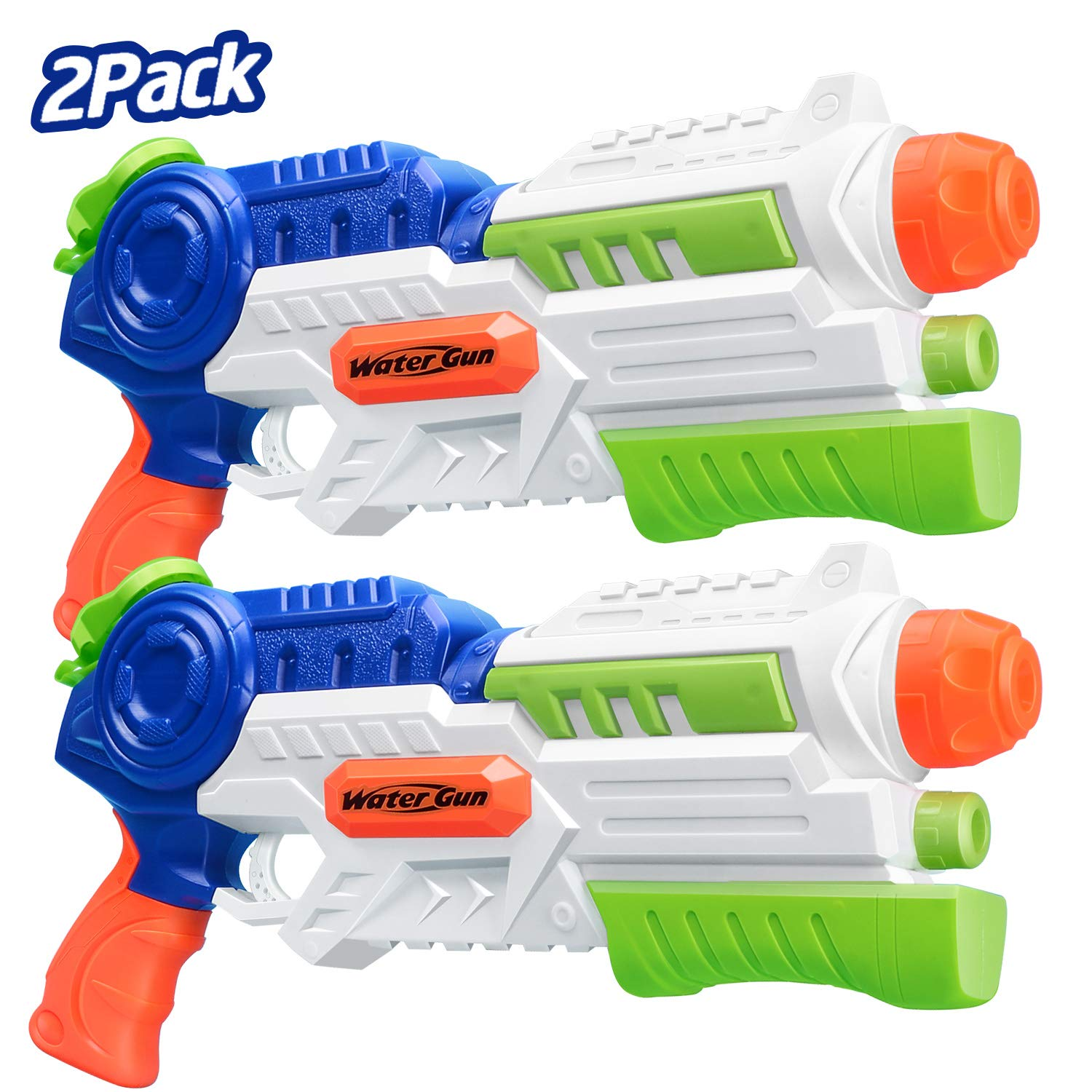 MAGIFIRE Super Water Guns 2 Pack Squirt Guns 1000 CC for Kids Adults Summer Soaker Water Toys Outdoor Beach Sand Party Water Fighting (Blue) by MAGIFIRE