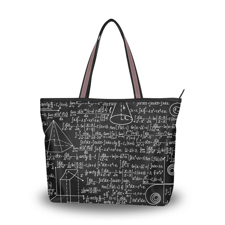 Senya Women's Handbag Microfiber Large Tote Shoulder Bag, Maths Formulas