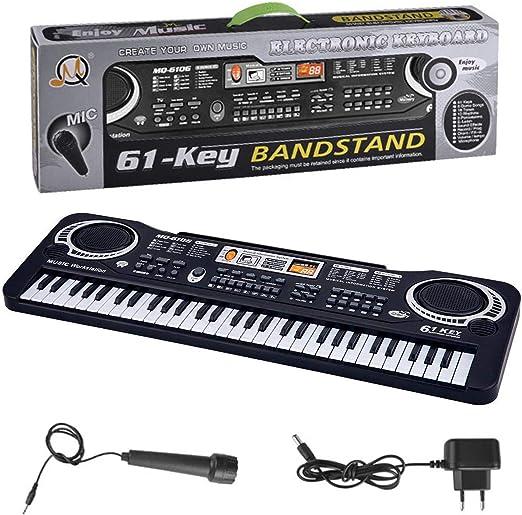 Wergem - Teclado electrónico de enseñanza musical, piano T y ...