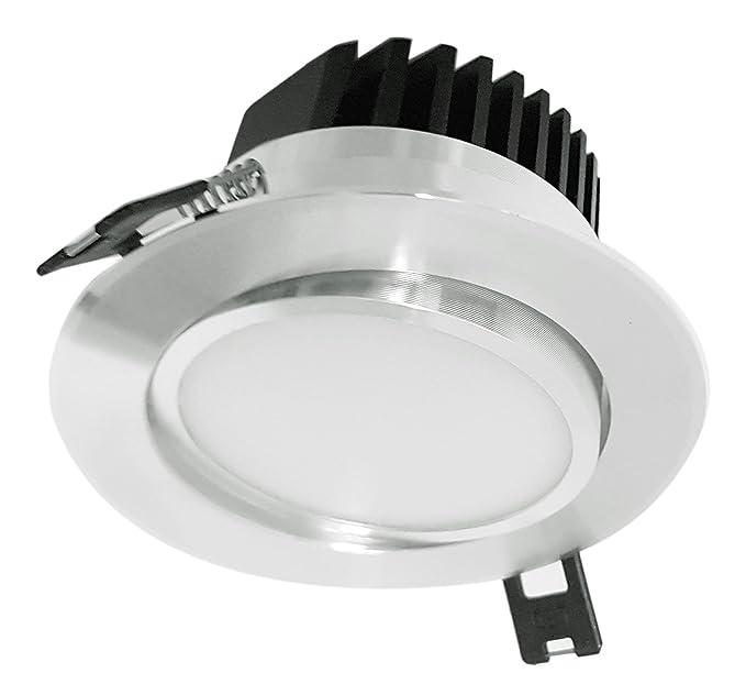 ZEYUN foco empotrable empotrable LED de , 5W, ángulo de haz de 120 ° Aluminio blanco cálido giratorio 3000K: Amazon.es: Iluminación