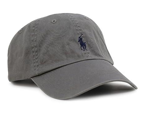 Gorra de Polo Ralph Lauren Negro College Grey Taille unique: Amazon.es: Ropa y accesorios