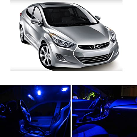 Ledpartsnow Hyundai Elantra 2017 Up Blue Premium Led Interior Lights Package Kit 8 Pieces