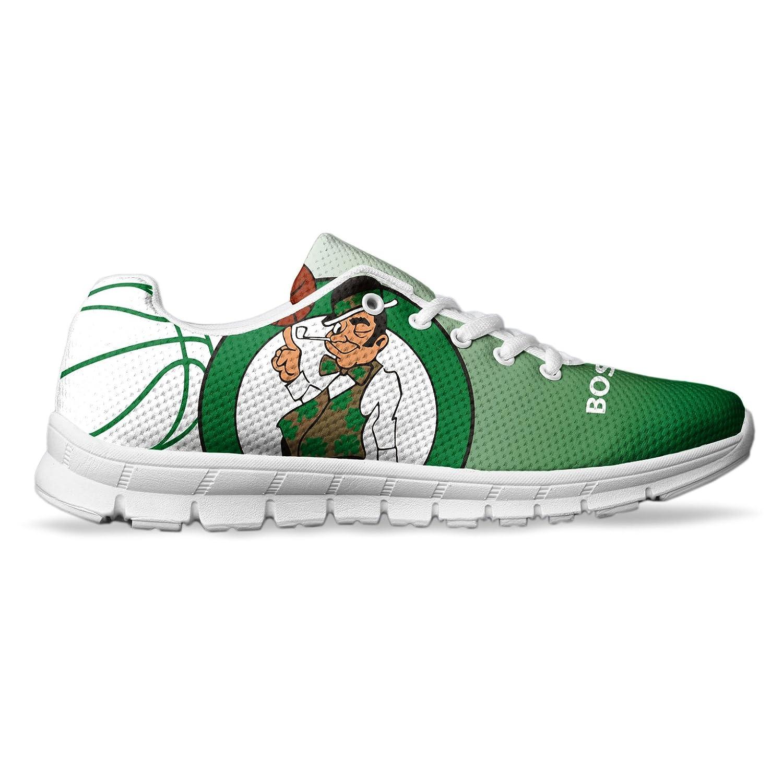 Men's Boston Basketball Custom Fan Made Running/Athletic Sneakers B078WJMJWM 5 US Men's|White