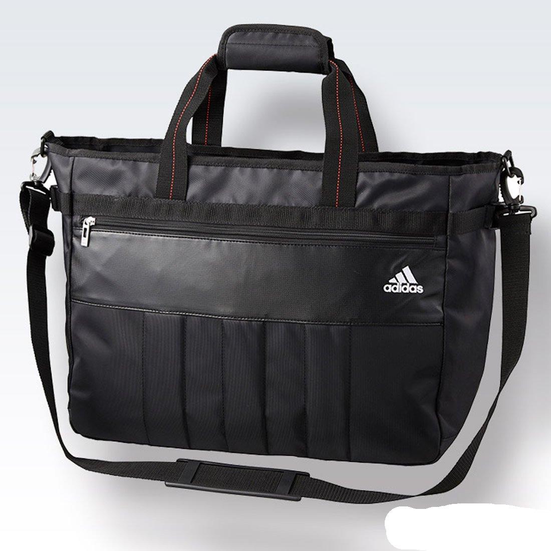 【エンタメプレゼント マーカー付セット】アディダス ゴルフ トートバッグ4 ブラック adidas Golf AWR94[ゴルフ用品 グッズ ギフト プレゼント] B06Y27LH2M  ブラック(A1023501)
