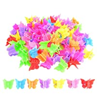 100 Packs Assorted Color Butterfly Hair Clips, Bantoye Girls Beautiful Mini Butterfly...