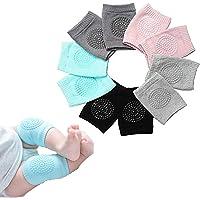 واقيات ركبة للأطفال الرضع مُضادة للانزلاق أثناء الزحف من إسفنج عالي المرونة وجيد التهوية من 5 أزواج