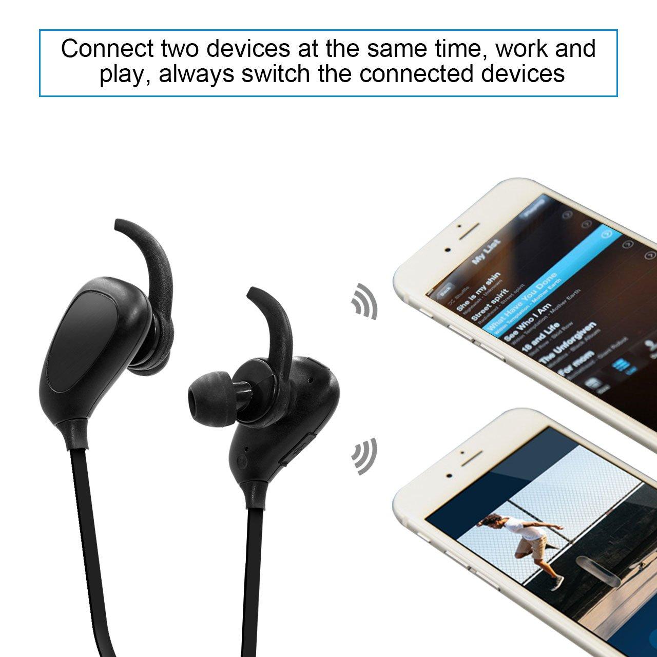 Auriculares Inalámbricos Bluetooth, NickSea Auriculares Bluetooth con Micrófono 3D Auriculares in Ear con Sonido Estéreo, Manos Libres Auriculares Movíl, ...