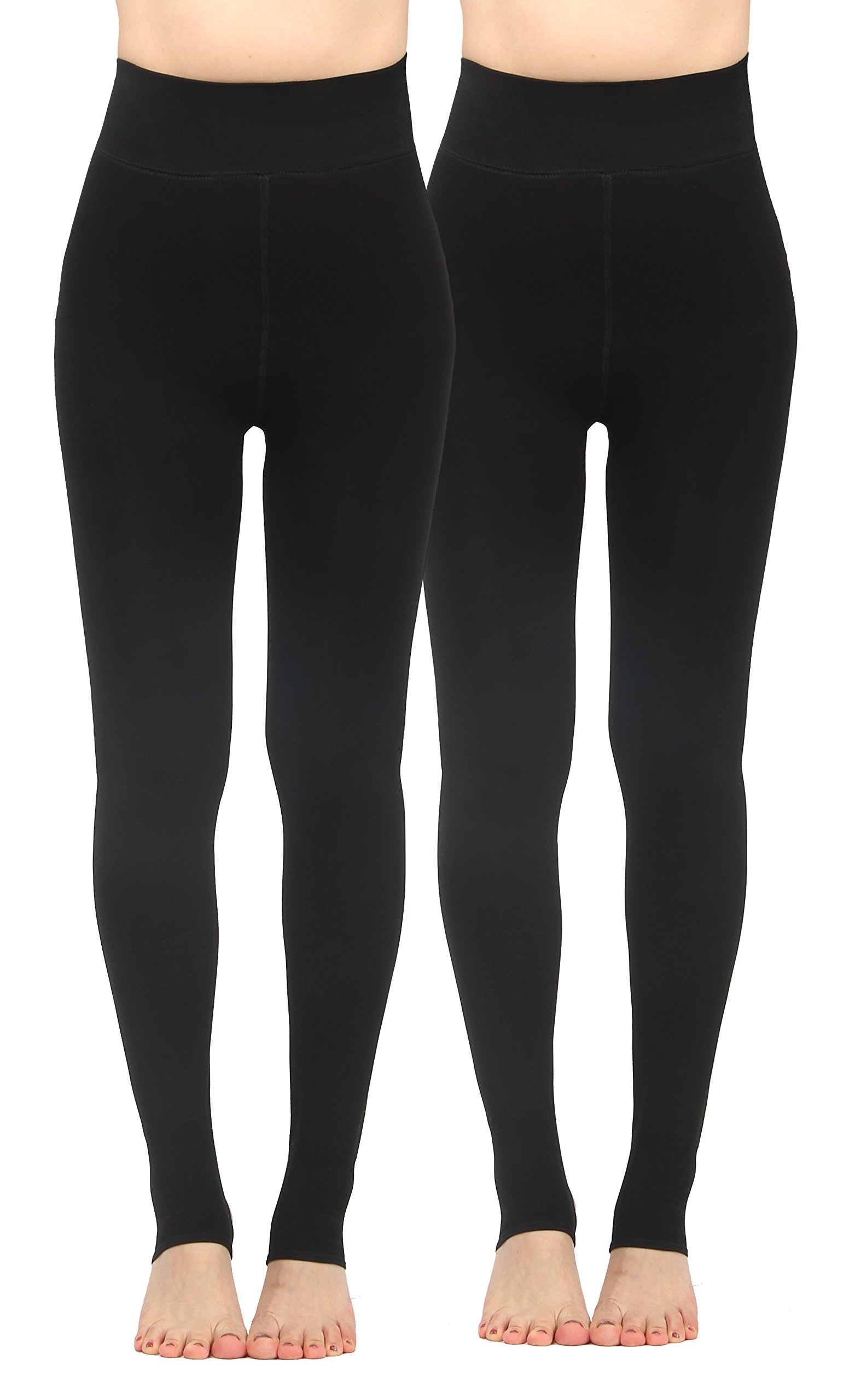 iLoveSIA 2PACK Women's Thick Faux Fur Lined Thermal Legging One Size Fit XS to XL by iLoveSIA (Image #1)