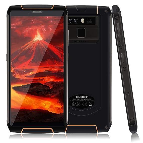 CUBOT King Kong 3 IP68 Waterproof Android 8 1 4G Rugged Smartphone  Unlocked, 5 5 inch, 6000mAh Big Battery, 4GB+64GB, 0 1s Fingerprint Sensor,