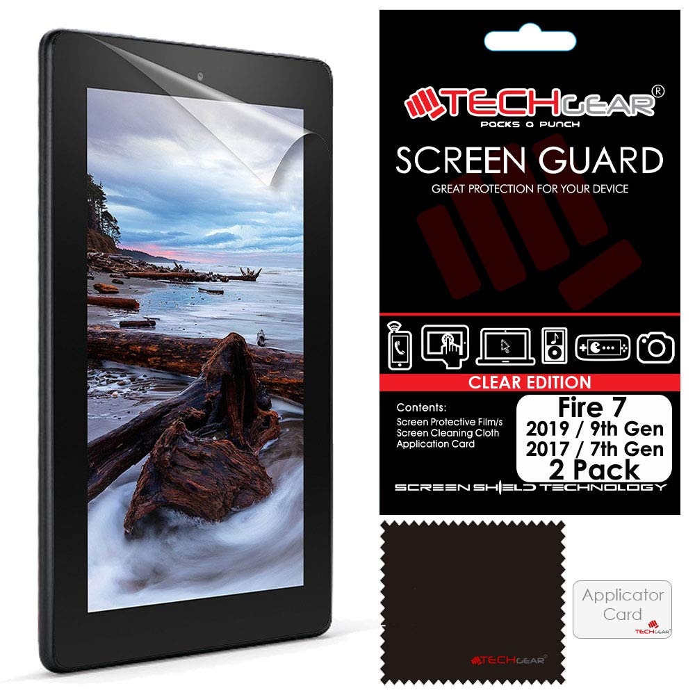 "2017 9H Genuine Tempered Glass Screen Protector Cover For Amazon Fire 7/"" Alexa"