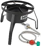 Bayou Classic SP10 Single Burner Cooker, 18″ x 18″ x 13″. Weight: 13.8lbs, Black