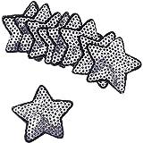 Kesheng 10pcs Parche Estrella de Lentejuelas Termoadhesivo para Decoración de Ropas