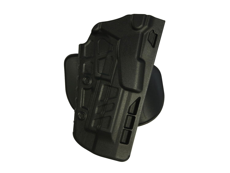 Safariland 7378 7TS ALS Concealment Holster, Flex-Paddle & Belt Loop Combo, Glock 20, 21, SafariSeven Plain Black, Right Hand 1191064