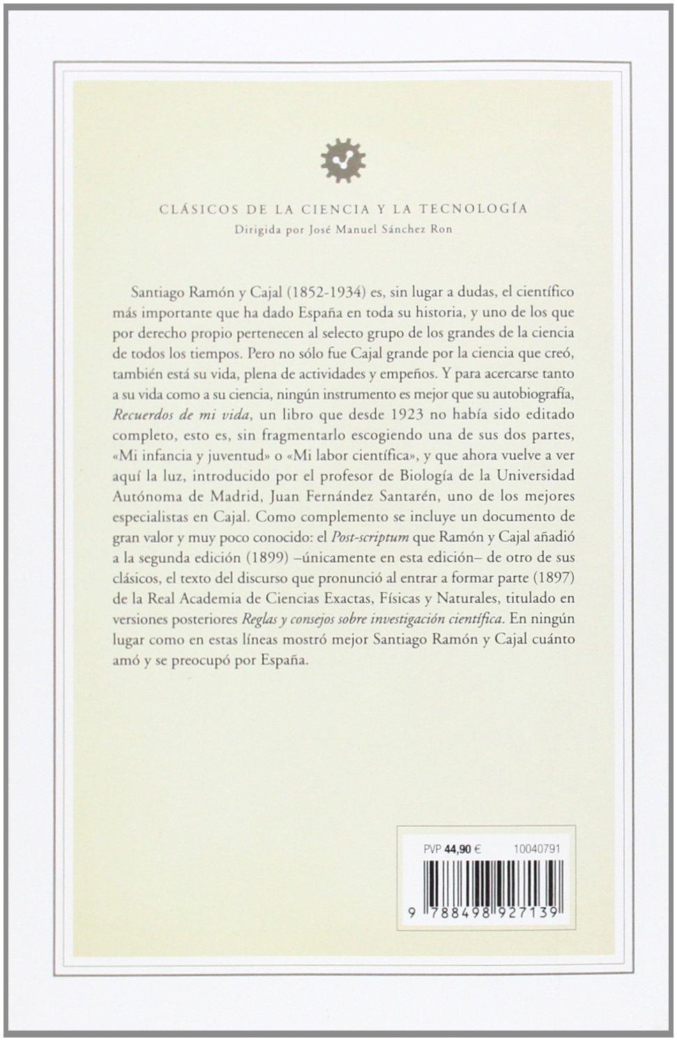Recuerdos de mi vida: Edición de Juan Fernández Santarén ...