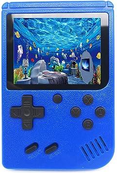 Consola de Juegos Portátil, 500 Games clásico Retro FC Plus, Cable de Salida de TV y Pantalla de 3 Pulgadas (Azul): Amazon.es: Electrónica