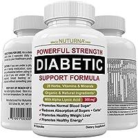 Diabetic Support Formula - 28 Vitamins Minerals Herbs with 300 mg Alpha Lipoic Acid...