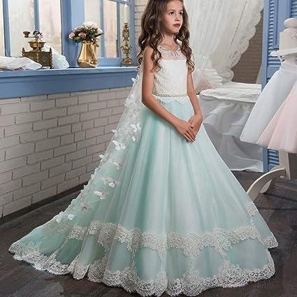 Vestidos formales de fiesta Princesa de los niños de la boda de dama de honor piso