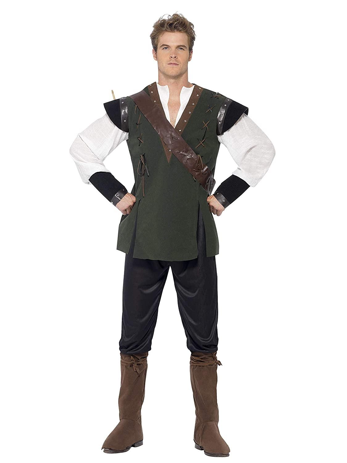 Amazon.com: Smiffys Mens Robin Hood Costume Trousers: Clothing