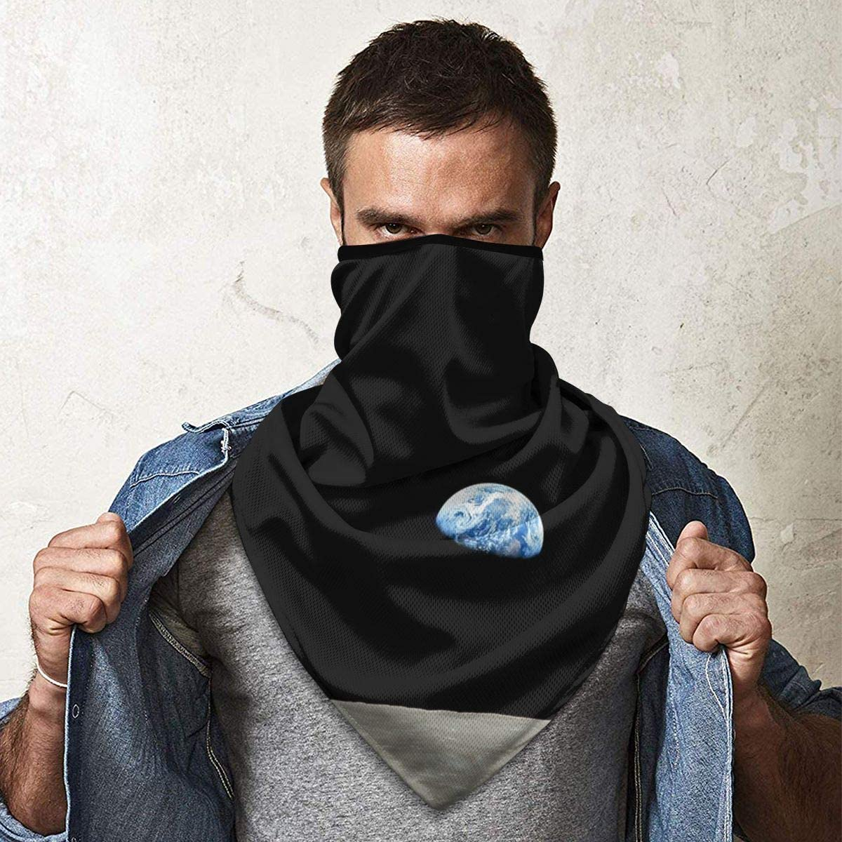 Wind-Resistant Face Mask/& Neck Gaiter,Balaclava Ski Masks,Breathable Tactical Hood,Windproof Face Warmer for Running,Motorcycling,Hiking-Apollo NASA Moon Mission Earthrise