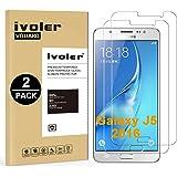 [2 Pack] Samsung Galaxy J5 2016 Protector de Pantalla, iVoler Protector de Pantalla de Vidrio Templado Cristal Protector para Samsung Galaxy J5 2016 -Dureza de Grado 9H, Espesor 0,30 mm, 2.5D Round Edge-[Ultra-trasparente] [Anti-golpe] [Ajuste Perfecto] [No hay Burbujas]- Garantía Incondicional de 18 Meses