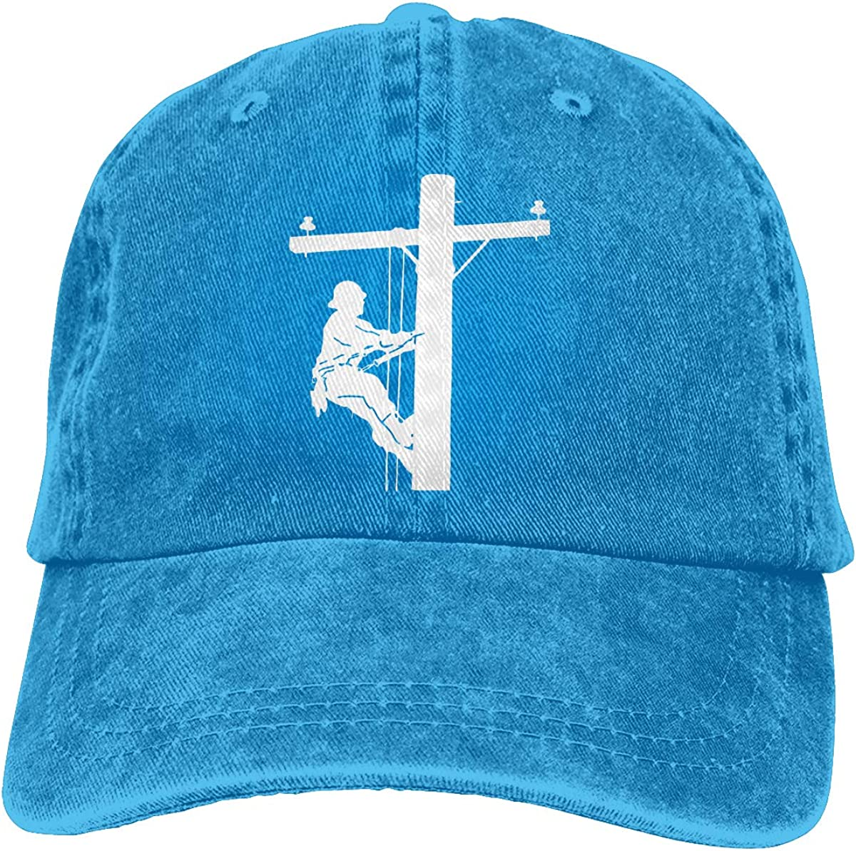 Lineman Fashion Unisex Washed Cap Adjustable Dads Denim Stetson Hat