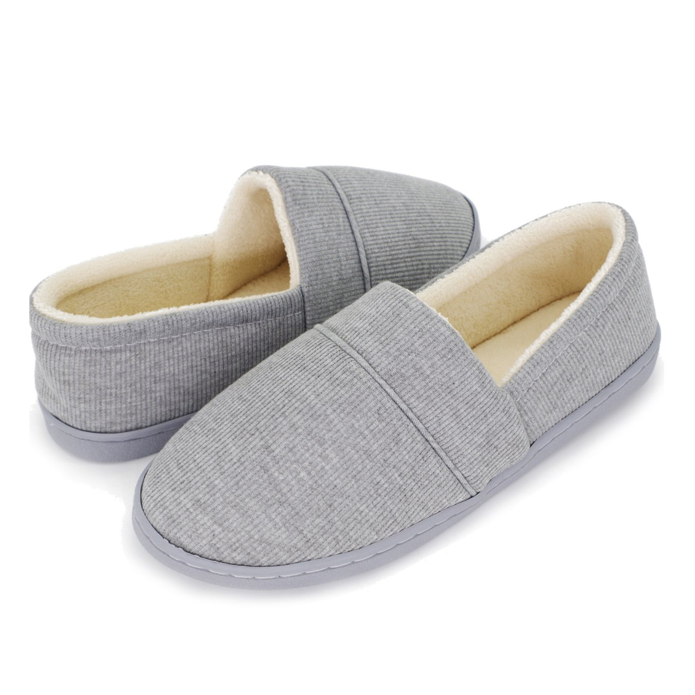 Moodeng Cotton Slippers for Women Knit Anti-Slip Lightweight Soft Comfort House Slippers Slip-on Velvety Home Shoes by Moodeng (Image #2)