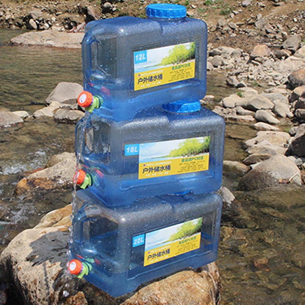 Depruies 12L 18L 22L Outdoor Car Water Bucket with Faucet Self-Driving Car Portable Camping Plastic Bucket