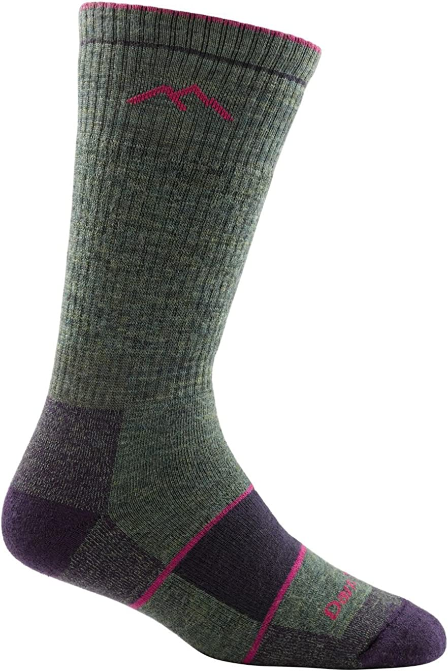 L,Mens Darn Tough Hiker Boot Sock Full Cushion Denim