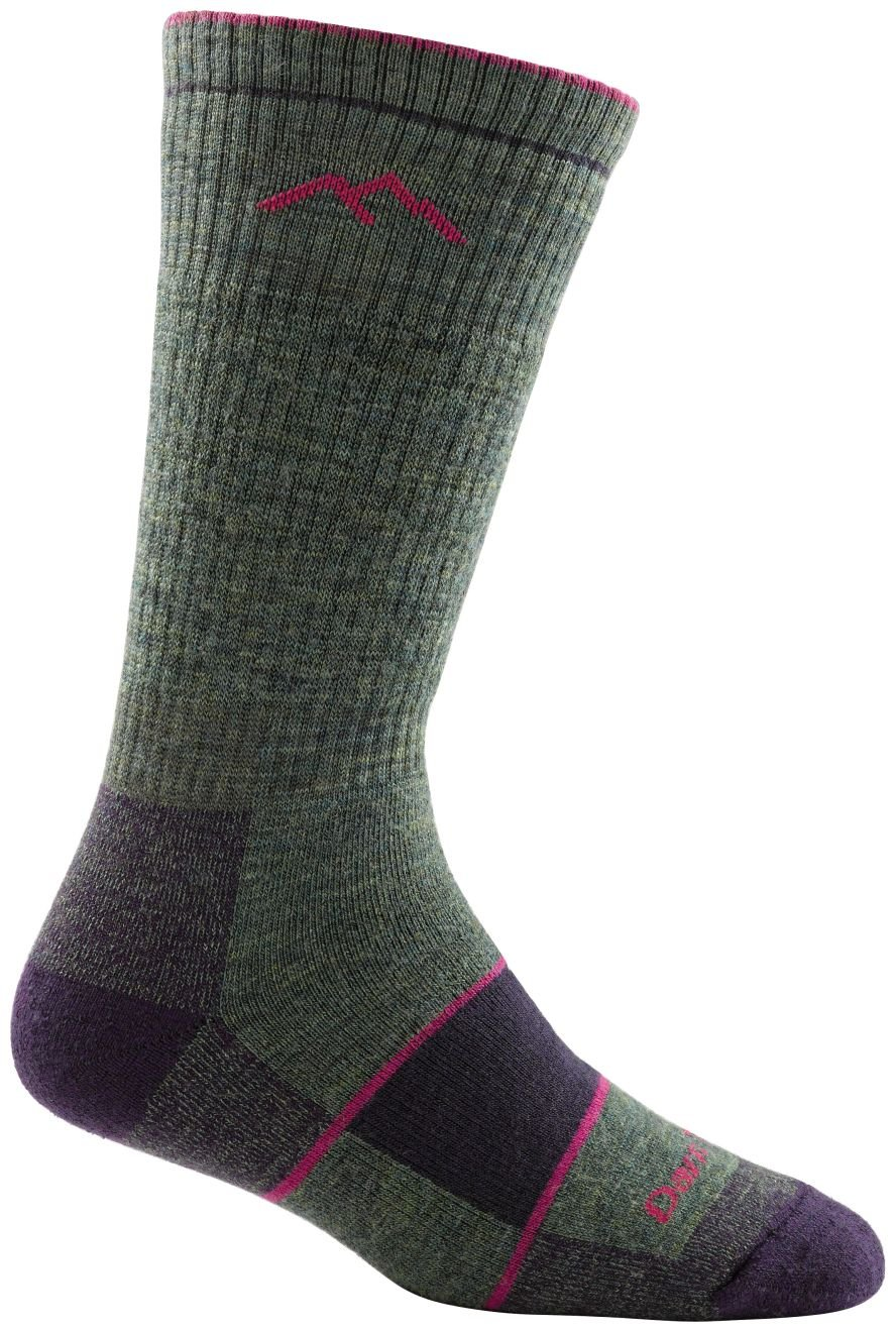 Darn Tough Coolmax Boot Full Cushion Socks - Women's Moss Heather Large