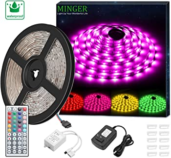 Minger SMD 5050 16.4ft Waterproof LED Strip Light