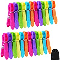 Aneco 24 Pieces Clothes Pins Cloths Clips Strong Clips Laundry Home Pegs Windproof Clothes Pins for Home Clothes Windproof Supplies