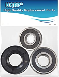 HQRP Bearing and Seal Kit works with Whirlpool Duet Sport WFW9050XW03 WFW9150WW00 WFW9150WW01 WFW9150WW02 WFW9151YW00 WFW9250WW00 WFW9050XW00 WFW9050XW02 Front Load Washer Tub