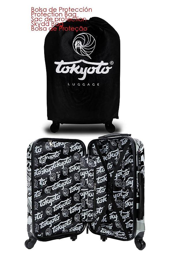 Maleta de cabina Equipaje de mano 55x40x20 Maleta juvenil trolley de viaje Ryanair Easyjet Maleta de viaje Rígida MAD COOL (Preparada para Cargar ...