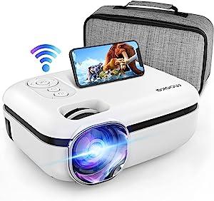 MOOKA WiFi Projector, 7500L HD Outdoor Mini Projector, 1080P & 200