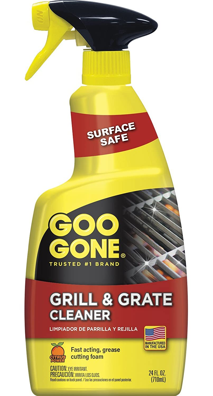 Goo Gone Grill and Grate Cleaner - 24 Ounce - Cleans Cooking Grates and Racks