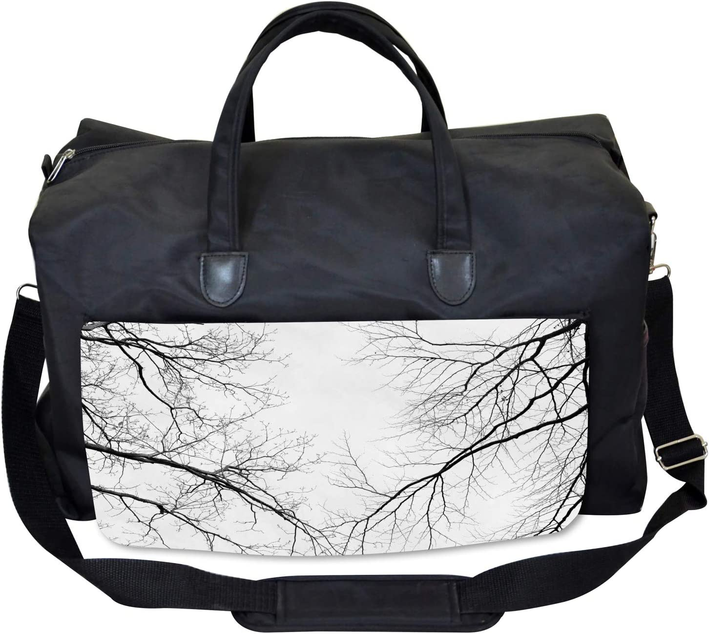 Leafless Scary Branches Ambesonne Forest Gym Bag Large Weekender Carry-on