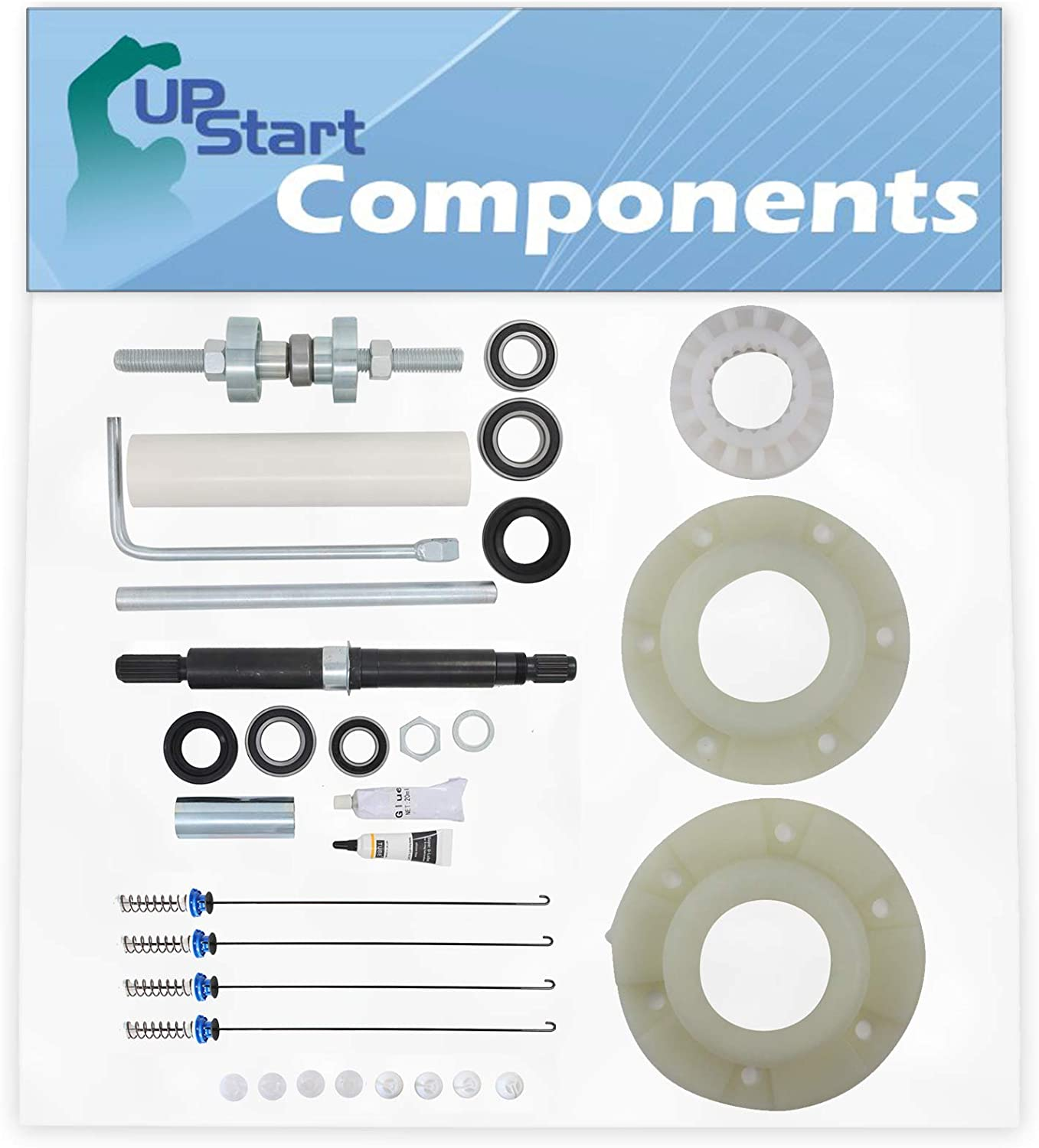 W10447783 Washer Tub Bearing Installation Tool, 280145 Hub Kit, W10435302 Tub Seal and Bearing Kit & W10820048 Suspension Rod Kit Replacement for Whirlpool WTW6400SW0
