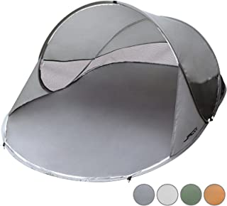 Jago Tente de Plage Instantanée Pop-up 2 Personnes 245x145x95 cm Protection UV 30-40 Sac de Transport Inclus (Couelur au Choix) FF Europe