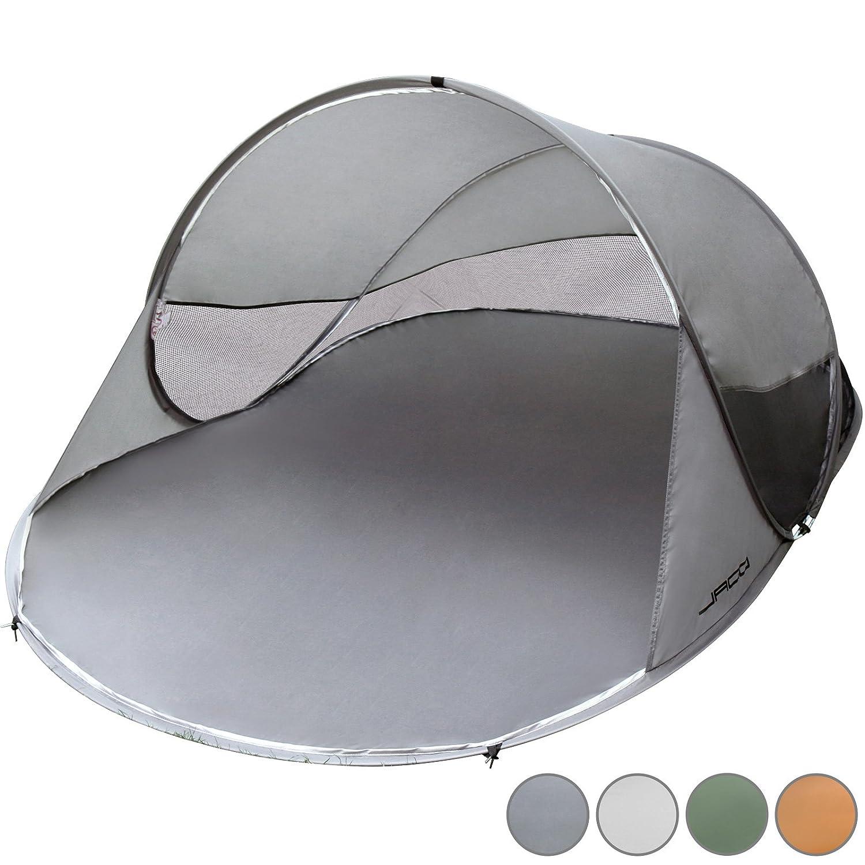 Jago - Tente de Plage Instantanée Pop-up 2 Personnes 245x145x95 cm Protection UV 30-40 Sac de Transport Inclus (Couelur au Choix)