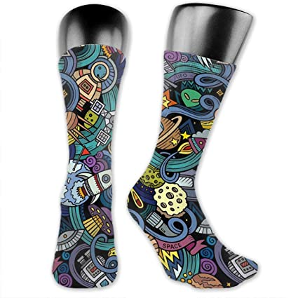 25f715d700f1 Image Unavailable. Image not available for. Color: OFFWAYA Funky Dress Socks  ...