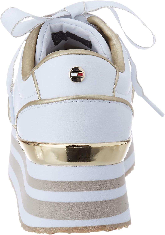Tommy Hilfiger Metallic Flatform Sneaker Sneakers Basses Femme