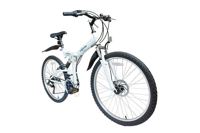 ECOSMO 66,04 cm plegable bicicleta 21SP shimano-26sf02w + bolsa de transporte: Amazon.es: Deportes y aire libre