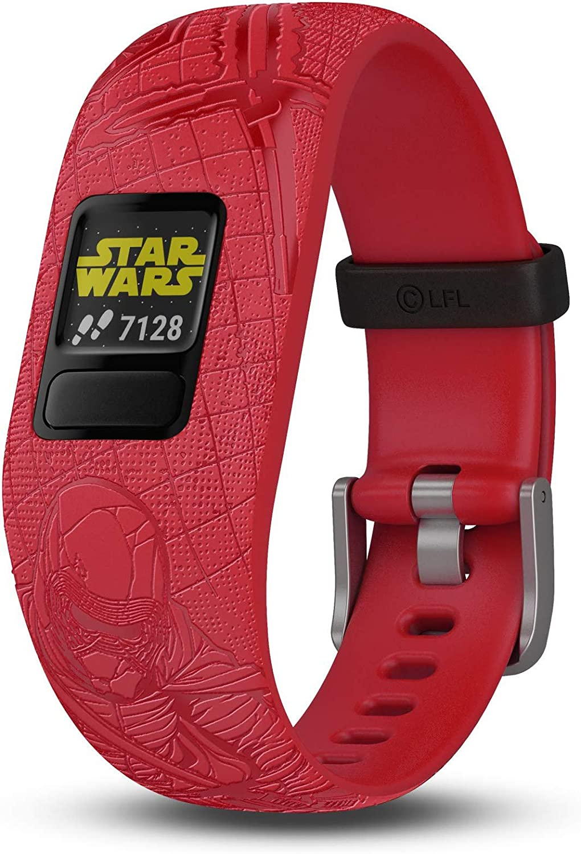 Garmin vivofit jr. 2, Kids Fitness/Activity Tracker, 1-Year Battery Life, Adjustable Band, Star Wars Dark Side, Red